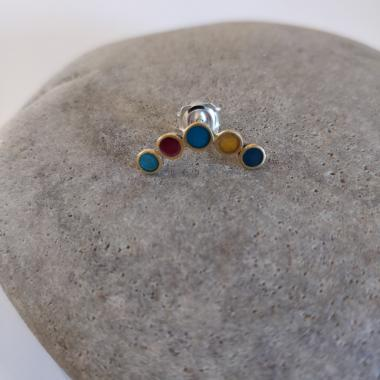 Earring stud - Arc circles