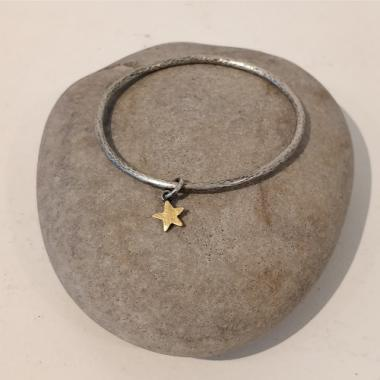 Gold star and silver Bangle