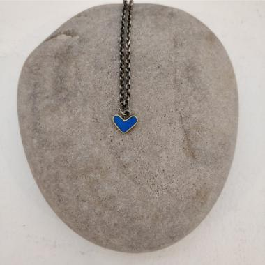 Carribean blue heart necklace