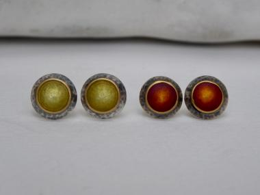 Olive Domed Studs (Left)