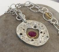 Limpet with Ruby Necklace by Ann Bruford