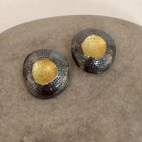Large Closed Limpet Clip Earrings  by Ann Bruford