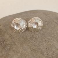 Open Limpet Drop/Stud Earrings  by Ann Bruford