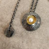 Closed Limpet Pendant  by Ann Bruford