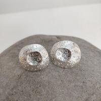 Bright limpet stud earrings  by Ann Bruford