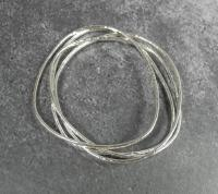 Extra Heavy Weight sterling silver bangle  by Ann Bruford