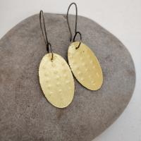 punched dot oval drops by Ann Bruford