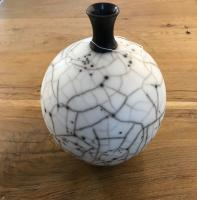 Naked Raku Large Bottle  by Abi  Higgins