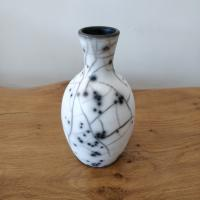 Naked Raku Small Vase  by Abi  Higgins