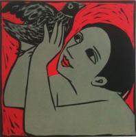 Bird In a Red Sky by Anita Klein