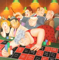Roulette by Beryl Cook