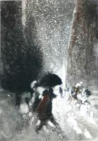 The Black Umbrella IX by Bill Jacklin RA