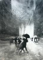The Black Umbrella III by Bill Jacklin RA