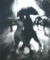 The Red Umbrella by Bill Jacklin RA