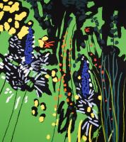 Green Garden with Unknown Flower  by Bruce McLean