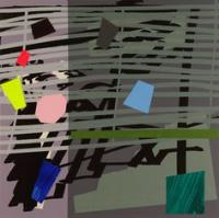 Green Grey Violet Shadow by Bruce McLean