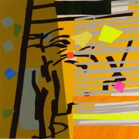 Tree Fern & Shadow Yellow by Bruce McLean
