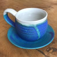Tea Cup and Saucer (x 2) by Bryony Rich