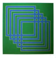 Five Squares on Green by Brian Rice