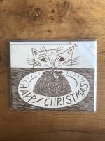 Christmas Cat - Multipack of 15 Christmas cards by Canns Down Press
