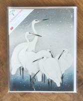 Herons in Snow - Multipack of 15 Christmas cards by Canns Down Press