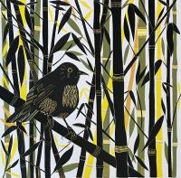 Bamboo + Blackbird by Cathy King