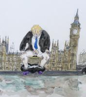 Boris does his Best! by Chris Orr MBE RA