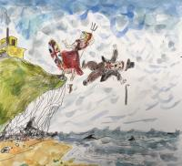 Brittania and John Bull take a step backwards.  by Chris Orr MBE RA
