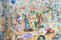 The Divine Comedy - Reginald Marsh at Coney Island by Chris Orr MBE RA