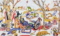 The Fauves Picnic by Chris Orr MBE RA