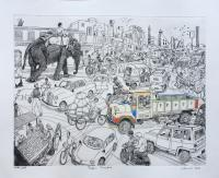 Jaipur Junction  by Chris Orr MBE RA