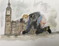 Johnson Gets It Off With Parliament  by Chris Orr MBE RA