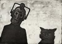 Cyberman and Cat by Chris Salmon