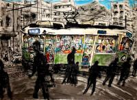 Street Scene Nagasaki by Chris Orr MBE RA