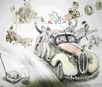 Age of Wheels 3 by Chris Orr MBE RA