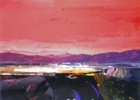 Kinlochbervie Red Sky  by Donald Hamilton Fraser RA