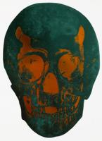 The Dead - Racing Green /Island Copper Skull 2009 by Damien Hirst