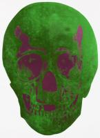 The Dead - LimeGreen / Loganberry Pink Skull 2009 by Damien Hirst
