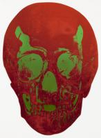 The Dead - Chilli Red / Lime Green Skull 2009 by Damien Hirst