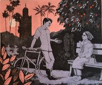 Evening in the orange garden by Frans Wesselman RE