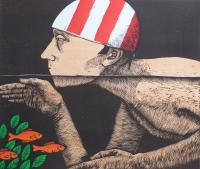 Swimmer II by Frans Wesselman RE