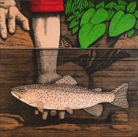 Tickling Trout by Frans Wesselman RE