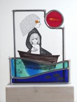 Voyage, stained glass by Frans Wesselman RE