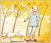 Walking the dog by Frans Wesselman RE