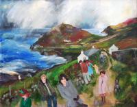 Watching the Storm Cape Cornwall by Gill  Watkiss
