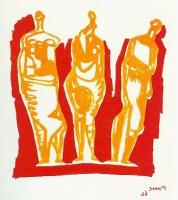 Three Standing Figures by Henry Moore
