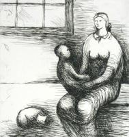Mother & Child IX(1983) by Henry Moore