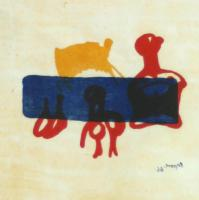 Motif in Red Blue & Yellow by Henry Moore