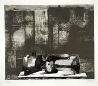 Reclining Figure Architectural Background (1977) by Henry Moore