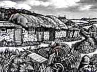 Fishing Huts at Prussia Cove by Howard Phipps